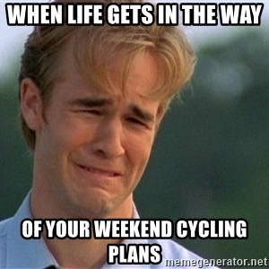 Crying Man - When Life Gets in the Way Of your Weekend Cycling Plans
