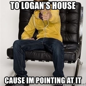 Justin Bieber Pointing - To lOgan's house Cause im pointing at it