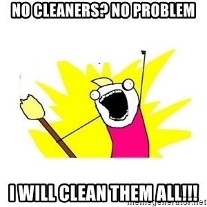 clean all the things blank template - No Cleaners? No problem I will clean them all!!!