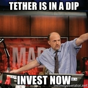 Jim Kramer Mad Money Karma - tether is in a dip invest now