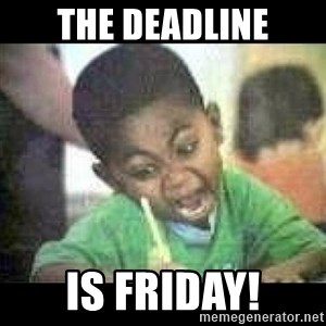 Black kid coloring - the deadline is friday!