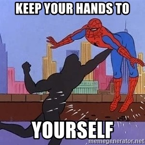 crotch punch spiderman - Keep your hands to yourself