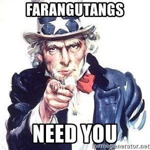 Uncle Sam - FARANGUTANGS NEED YOU