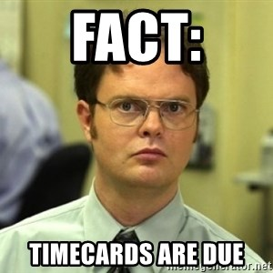 Dwight Meme - fACT: tIMECARDS ARE DUE