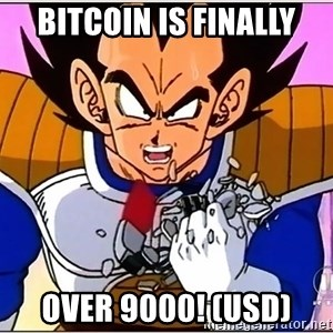 Over 9000 - Bitcoin is finally over 9000! (usd)