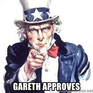 Uncle Sam - Gareth approves