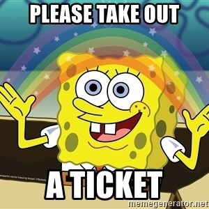 spongebob rainbow - Please take out a ticket