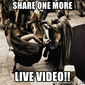sparta kick - share one more live video!!