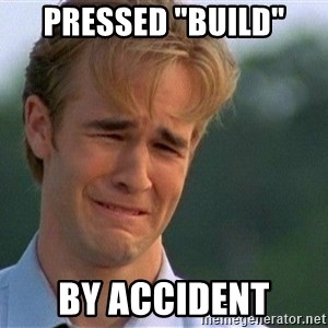 """Crying Man - Pressed """"build"""" by accident"""