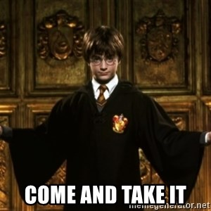 Harry Potter Come At Me Bro - Come and take it