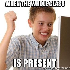 Noob kid - When the whole class Is present