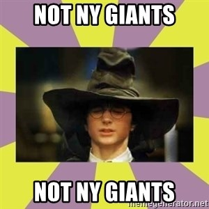 Harry Potter Sorting Hat - not ny giants NOT NY GIANTS