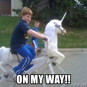 unicorn - on my way!!