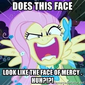 angry-fluttershy - Does this face Look like the face of mercy . Huh?!?!