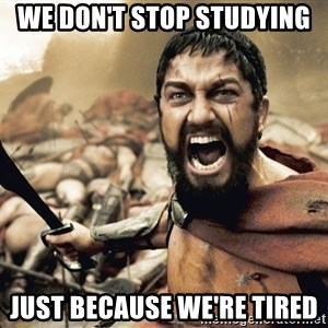 Spartan300 - We don't stop studying just because we're tired