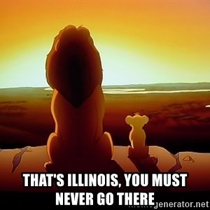 simba mufasa - That's Illinois, you must never go there