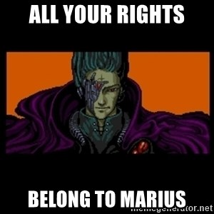 All your base are belong to us - ALL YOUR RIGHTS BELONG TO MARIUS
