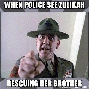 R. Lee Ermey - when police see zulikah rescuing her brother