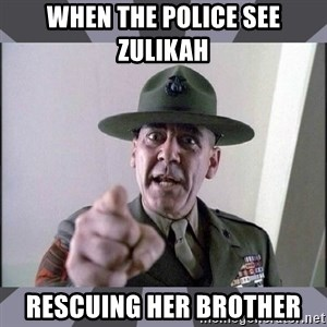 R. Lee Ermey - when the police see zulikah rescuing her brother