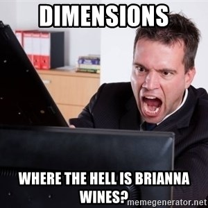 Angry Computer User - Dimensions Where the hell is Brianna Wines?