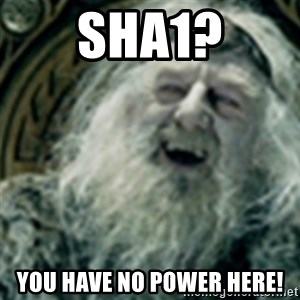 you have no power here - sha1? you have no power here!