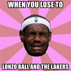 LeBron James - WHEN YOU LOSE TO  Lonzo Ball and the Lakers
