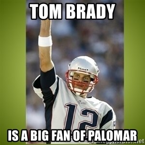 tom brady - Tom Brady is a big fan of Palomar