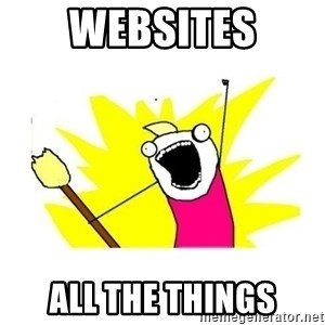 clean all the things blank template - Websites All the things