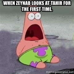 D Face Patrick - When zeynab looks at tahir for the first time.