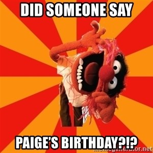 Animal Muppet - Did sOmeone say Paige's birthday?!?