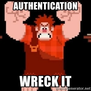 Wreck-It Ralph  - AUTHENTICATION wreck it