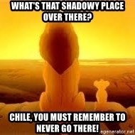 The Lion King - what's that shadowy place OVER THERE? CHILE, YOU MUST REMEMBER TO NEVER GO THERE!