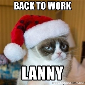Grumpy Cat Santa Hat - Back to Work Lanny