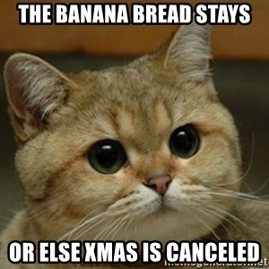Do you think this is a motherfucking game? - The banana bread stays or else xmas is canceled