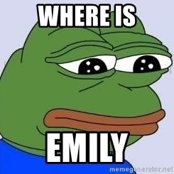 Sad Frog Color - where is emily
