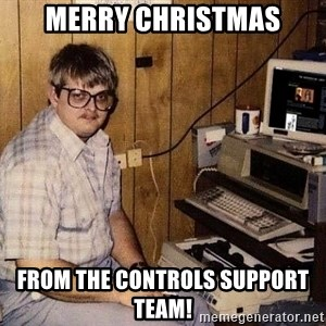 Nerd - Merry Christmas From the Controls Support Team!