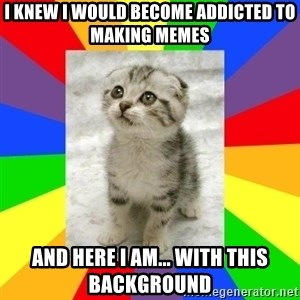 Cute Kitten - i knew i would become addicted to making memes and here i am... with this background