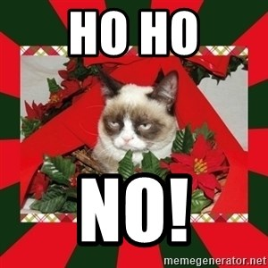 GRUMPY CAT ON CHRISTMAS - HO HO NO!