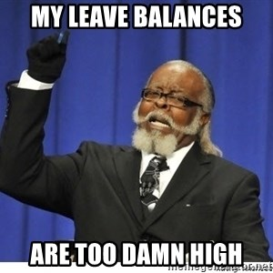 Too high - My leave balances Are too damn high