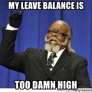Too high - My leave balance is Too damn high