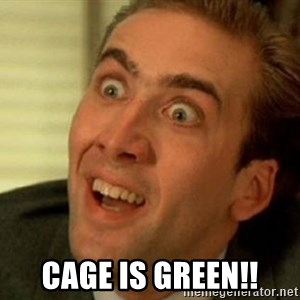 nicolas cage no me digas - CAGE IS GREEN!!