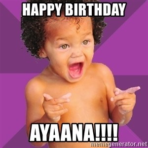 Baby $wag - Happy Birthday Ayaana!!!!