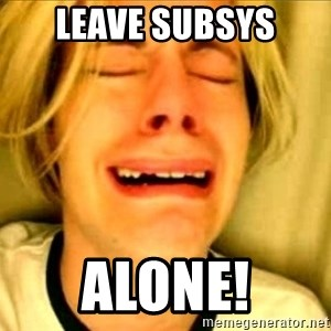 Leave Brittney Alone - Leave Subsys Alone!