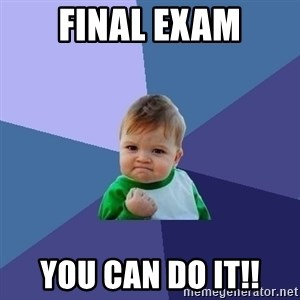Success Kid - Final exam you can do it!!