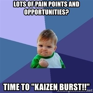 "Success Kid - Lots of Pain Points and Opportunities? Time to ""Kaizen Burst!!"""