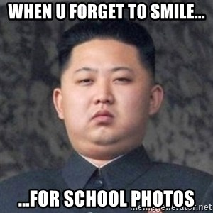 Kim Jong-Fun - when u forget to smile... ...for school photos