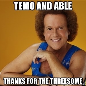 Gay Richard Simmons - Temo and able Thanks for the threesome