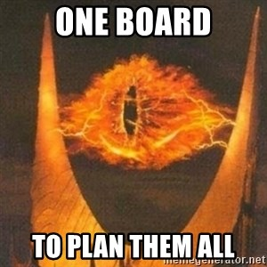 Eye of Sauron - ONE BOARD TO PLAN THEM ALL