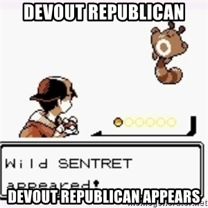 a wild pokemon appeared - devout republican devout republican appears