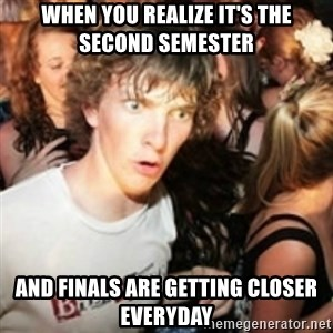 sudden realization guy - When you realize it's the second semester and Finals are getting closer everyday